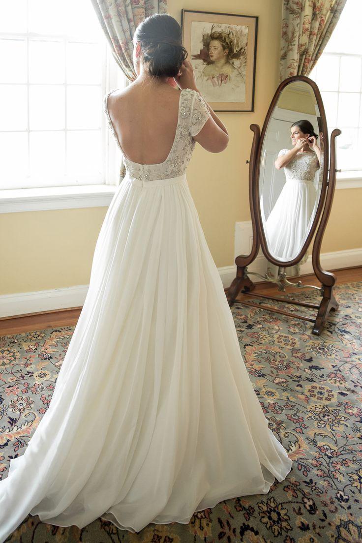 An Anne Barge bride on her wedding day! Dress: Beloved. Image: Melani Lust Photography.
