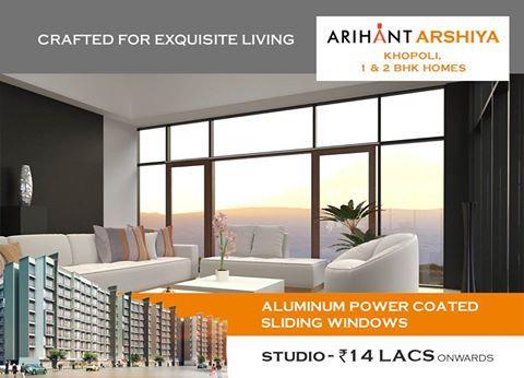 Arihant Arshiya 1 & 2 BHK Homes, Khopoli Studio - Rs. 14 Lacs onwards  Aluminium powder coated Sliding Windows  http://www.asl.net.in/arihant-arshiya.html  #ArihantArshiya #RealEstate #Property #Homes #Khopoli