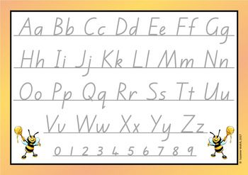 Alphabet Cards – New Zealand Handwriting Font