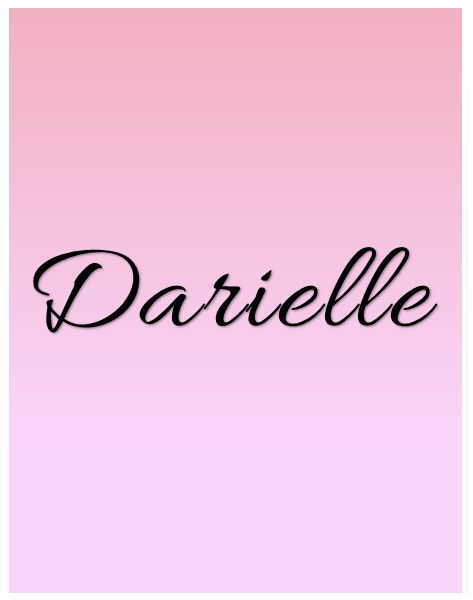 """Inspired by the name """"Danielle,"""" but also a combination of """"Daria"""" and """"Elle"""". The meaning of the name Darielle is """"Good Woman"""". The origin of the name Darielle is American. This is the culture in which the name originated, or in the case of a word, the language."""