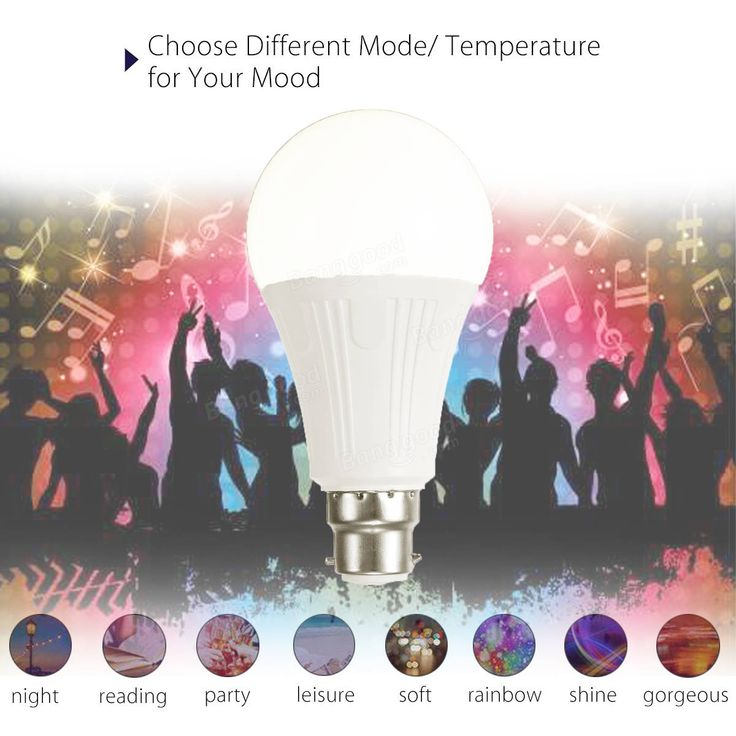 B22 7W RGBW WiFi APP Controlled LED Smart Light Bulb for Echo Alexa Google Home AC110-220V