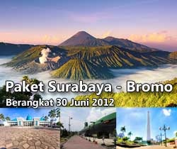 Bromo Package Tour (Jakarta - Surabaya - Bromo - Jakarta). 3D2N. Price starting from Rp 2.010.000. Includes:  - Ferry ticket, first class room  - Meals  - Hotel at Bromo  - Executive Bus  - Entrance tickets + Guide  - Jeep Hartop rental  - Train ticket back to Jakarta (or flight ticket, depending on the fare)    Contact +62 21 231 6306 for more information