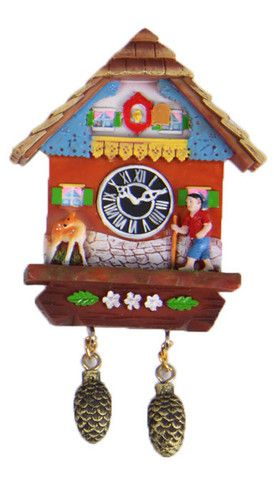 Magnet - German-style Cuckoo Clock - 4 avail