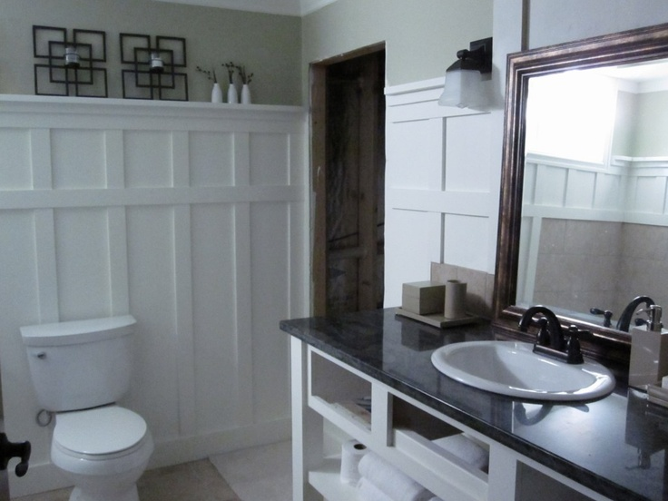 DIY beadboard alternative for blue bathroom?: Panels Bathroom, Wall Panels, Bathroom Wall, Panels Wall, Wall Treatments, Vintage Romance, Bathroom Ideas, Basements Bathroom, Cottages Bathroom