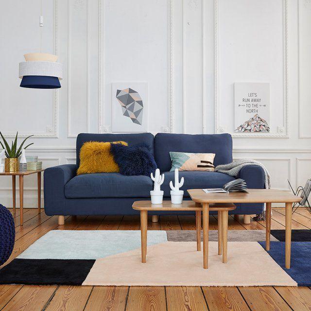 Canapé moelleux bleu marine, La Redoute Intérieurs - Marie Claire Maison
