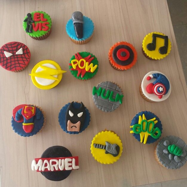 Super hero cupcakes! #SuperHeroCupcakes #CupcakesSuperHeroes Cupcakes personalizados  @Dulcycandy