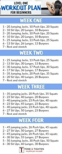 One-month workout plan for beginners! Follow the link for video descriptions of …