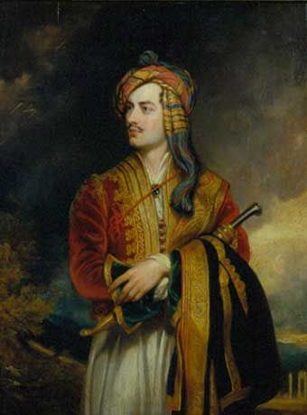 Lord Byron 1788-1824 ~ With Lord Byron English Romanticism became an international style. A charismatic figure of devastating charm and vanity, Byron became the ideal of the Romantic writer.