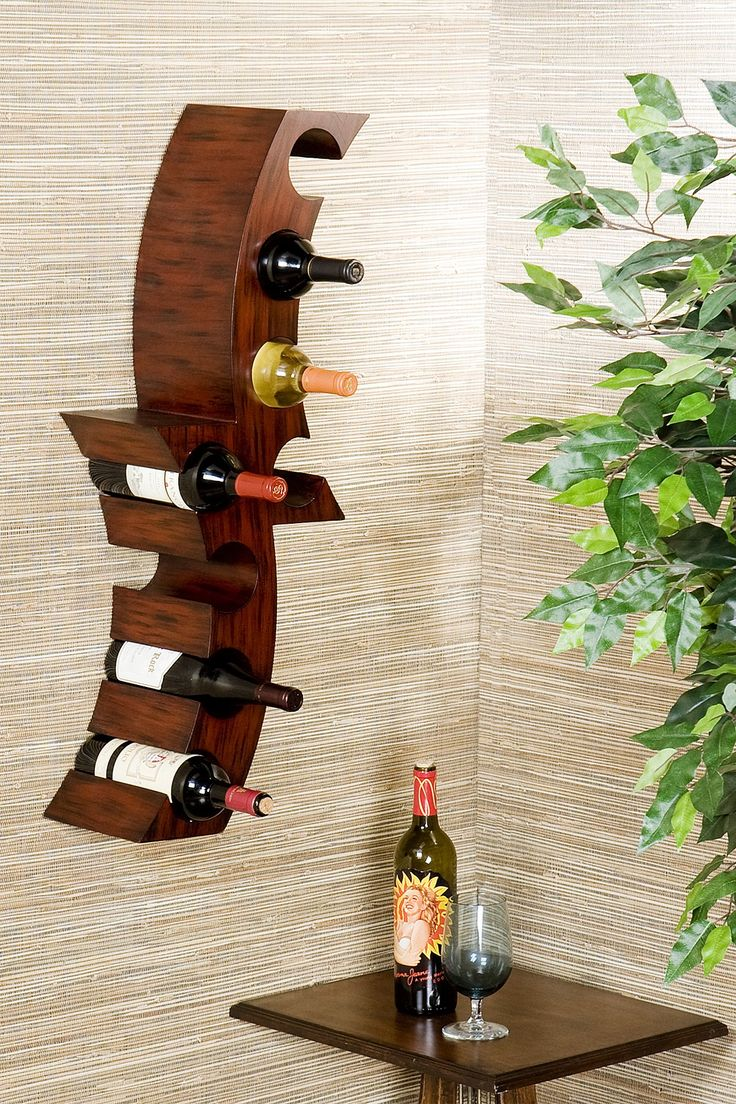 Calabria Wall Mount Wine Rack I Want One Of These Sized