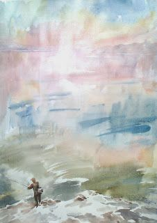 An aquarell painting, using soft colors