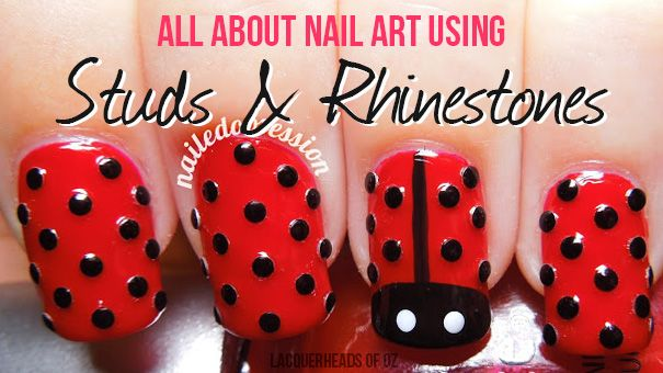 How to Use Studs & Rhinestones for Nail Art - Lacquerheads of Oz