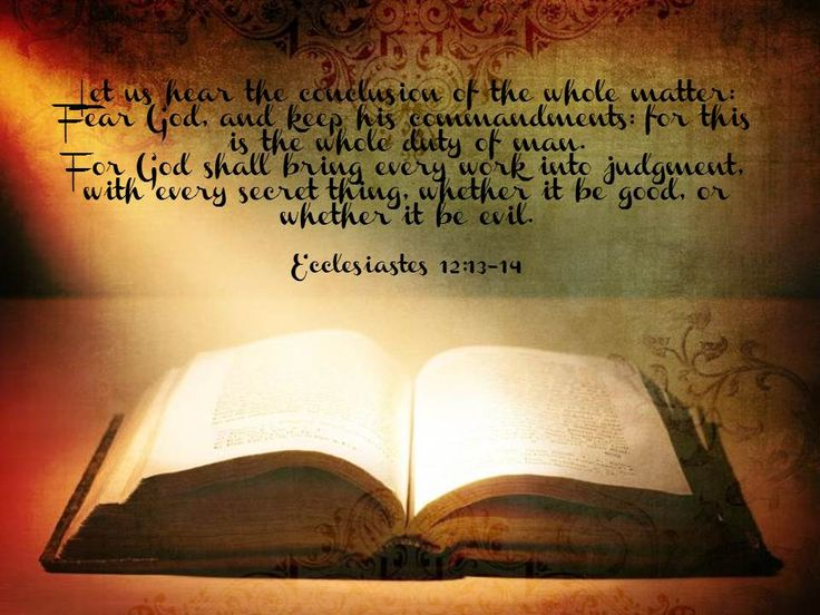 ecclesiastes 12 verse 13 and 14 dating