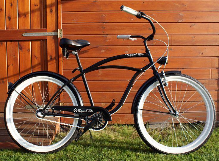 Rower cruiser Black Bandit #bike #cruiser #beachbike #beachcruiser #royalbi #rower #miejski www.RoyalBi.pl