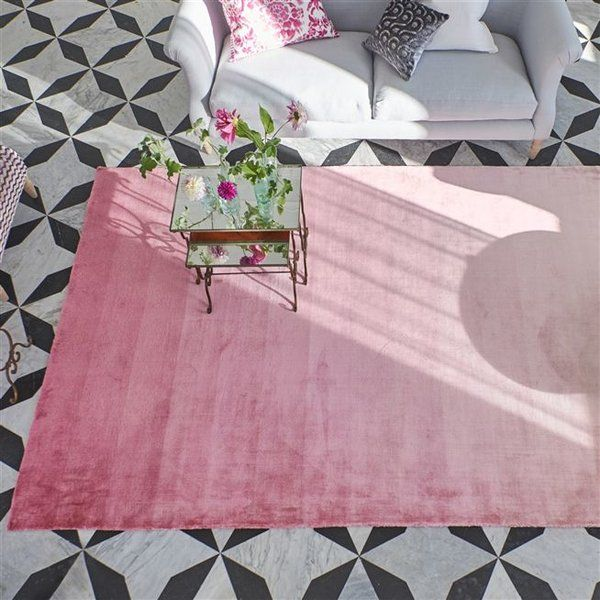 Saraille Peony Area Rug Pink Ombre Rug Designers Guild Rugs