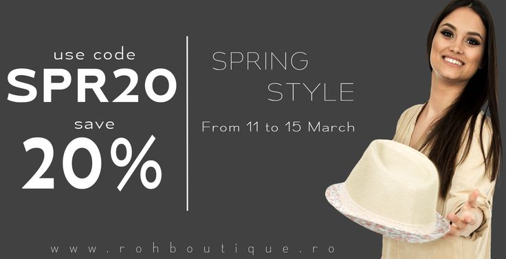 Spring Style - 20% OFF !!!