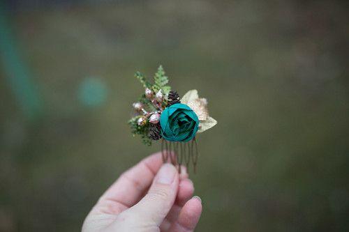"""Květinový mini hřebínek \""""vůně trávy za stmívání\"""""""