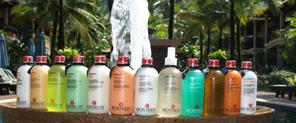 Rostedt - A beautiful hair & bodycare range, in a beautiful environment at Bayfront resort in Khao Lak, Thailand.