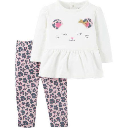 Carters Two Pieces Set for Baby Girl size 9 and 12 months