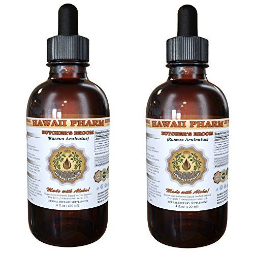 Butchers Broom Liquid Extract Organic Butchers Broom Ruscus aculeatus Tincture Supplement 2x2 oz -- Continue to the product at the image link.