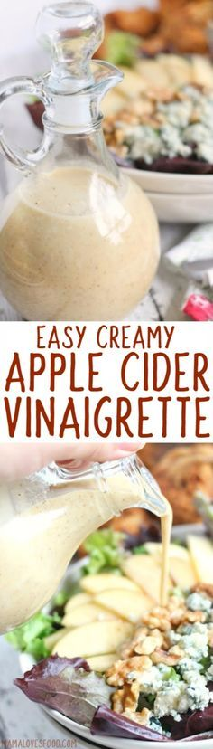 can't believe how easy this was!   Creamy Apple Cider Vinaigrette Dressing Recipe - How to Make Salad Dressing with Apple Cider Vinegar