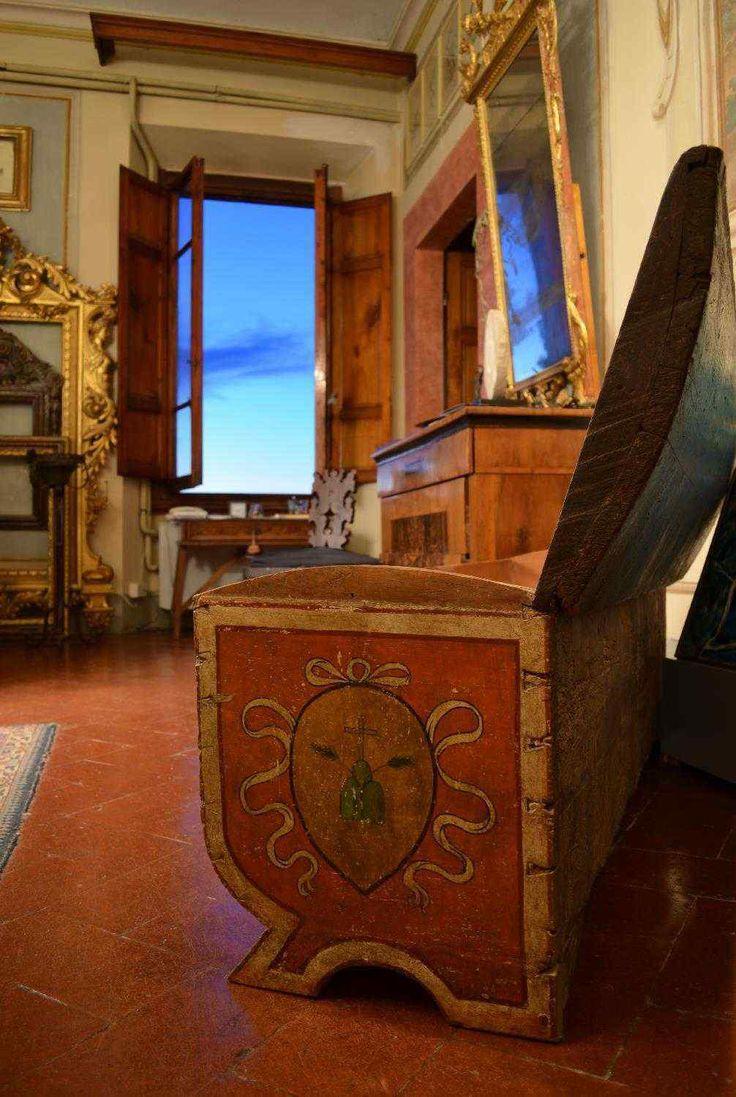 Elegant Cassone Dipinto, Siena XVI Secolo | Antiquariato Su AnticSwissu2060u2060u2060u2060