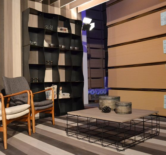 Our Iron-ic #bookcase in a #different guise. #Laminated #wood on the back makes it warmer and more #glamorous than ever. #natural #iron #modern #furnishing