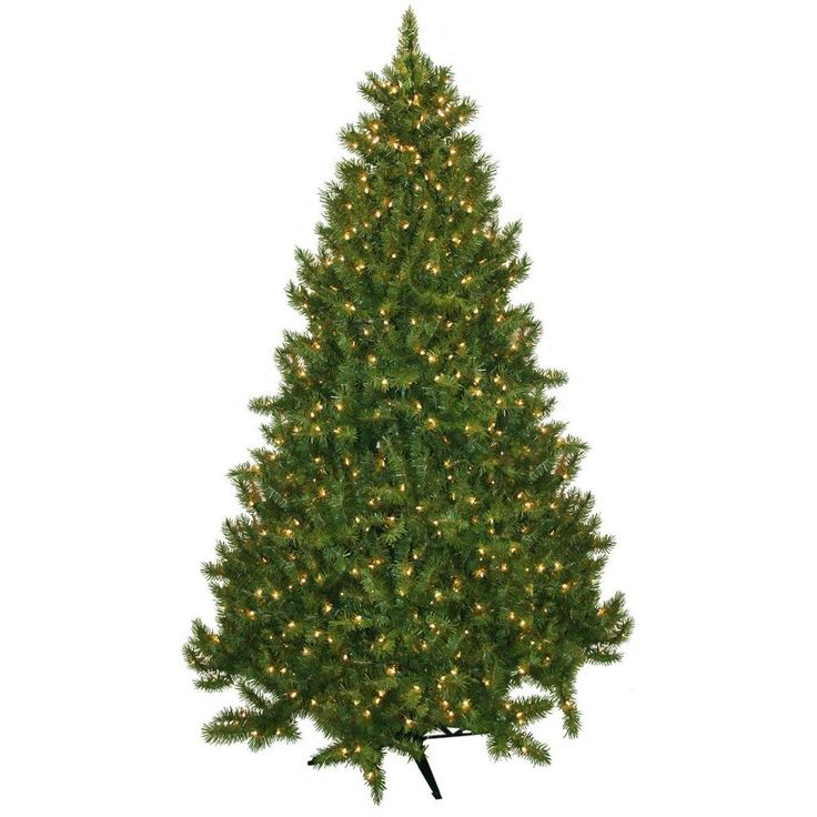 Christmas Tree Artificial 7.5 Foot Home Accent Pre lit 700 Clear Xmas With Stand #ChristmasTreeArtificial