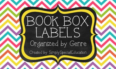 3x5 Book Box Labels from Simply Special on TeachersNotebook.com -  (15 pages)  - These cute chevron book box labels are a perfect addition to any classroom library! Twelve genres are included!