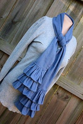 Ruffled Scarf for SEWING REPUBLIC: I show you step by step how to make this through guest posting for Sewing Republic