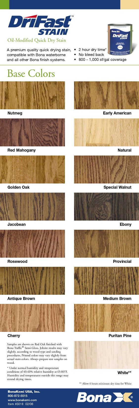 Wood floor stain color chart - Bona Hardwood Stain Colors Antique Brown