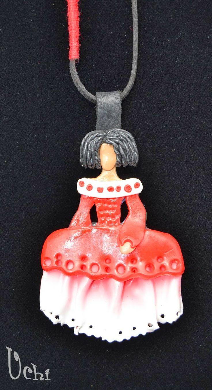 Menina roja - Arcilla polimérica, polymer clay | UCHI                                                                                                                                                                                 Más                                                                                                                                                                                 Más