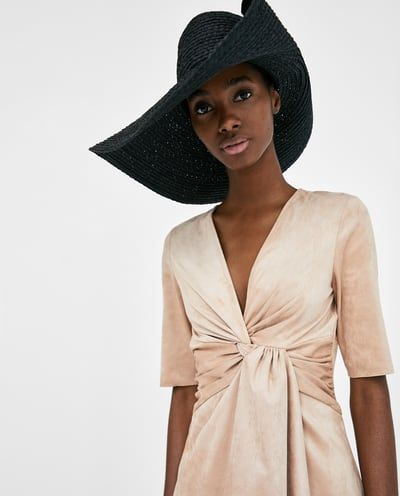 6d6d4c47 FAUX SUEDE DRAPED DRESS-Mini-DRESSES-WOMAN | ZARA United States | party  dresses | Draped dress, Dresses, Fashion