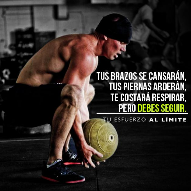 Debes seguir. #Crossfit #Quotes #Esfuerzo #Maximo #Training #Fitness #Fit #Frases #Poder #Best #Motivacion