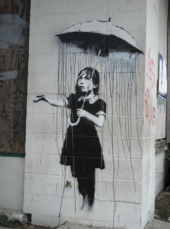 Banksy...Banksy is a pseudonymous England-based graffiti artist, political activist, film director, and painter