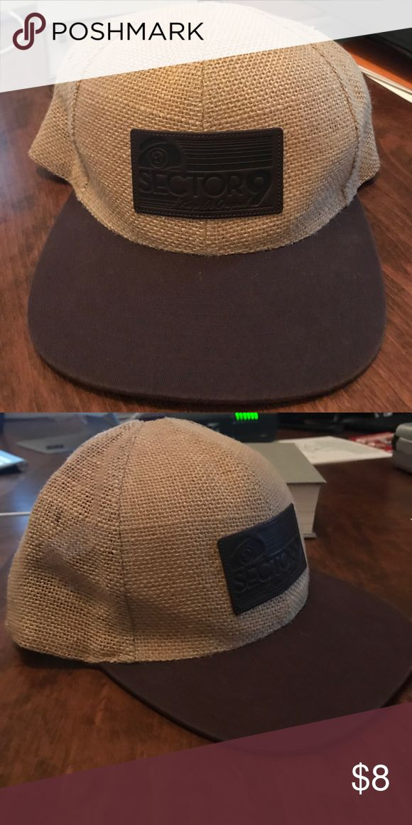 Like new sector nine hat Burlap + brown flat bill   sector 9   adjustable   like new, no tags Accessories Hats