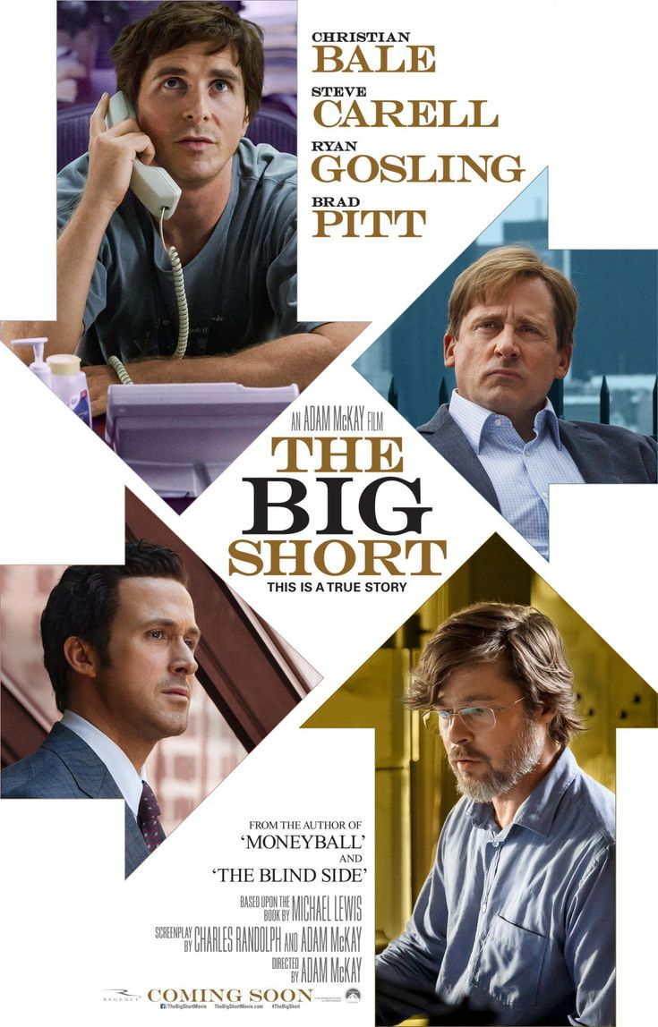 The Big Short (2015) Awesome movie that tells the truth about the 2008 mortgage meltdown