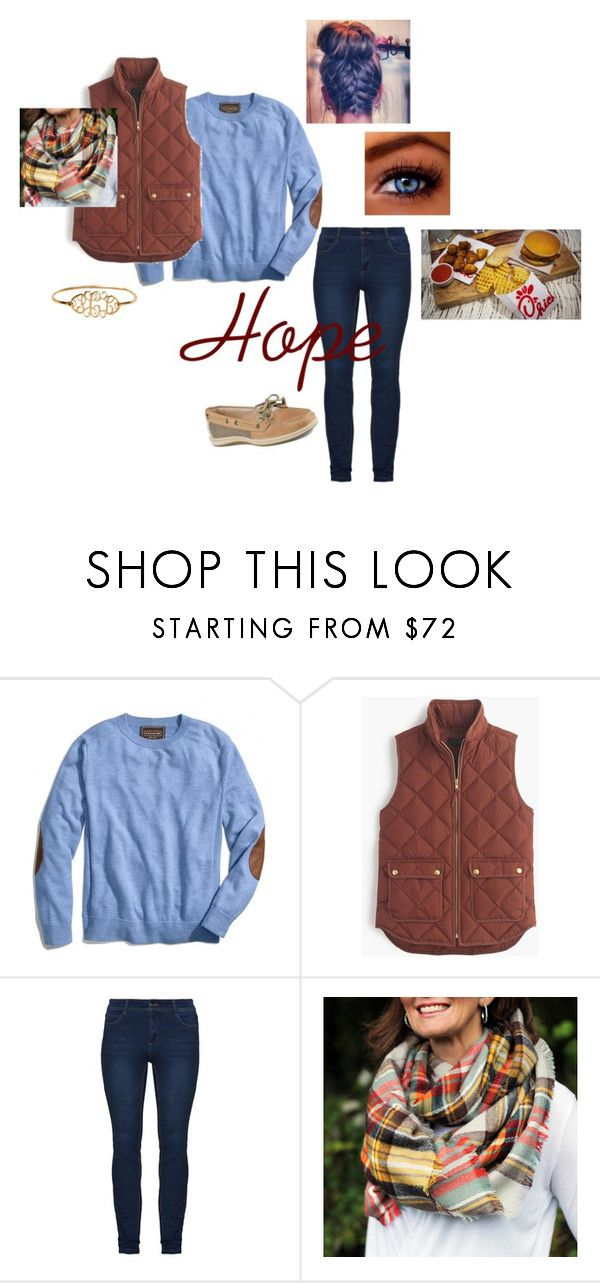 """""""Daddy Daughter @ Chick-fil-a"""" by pibbgirl13 ❤ liked on Polyvore featuring Coach, J.Crew and Sperry"""