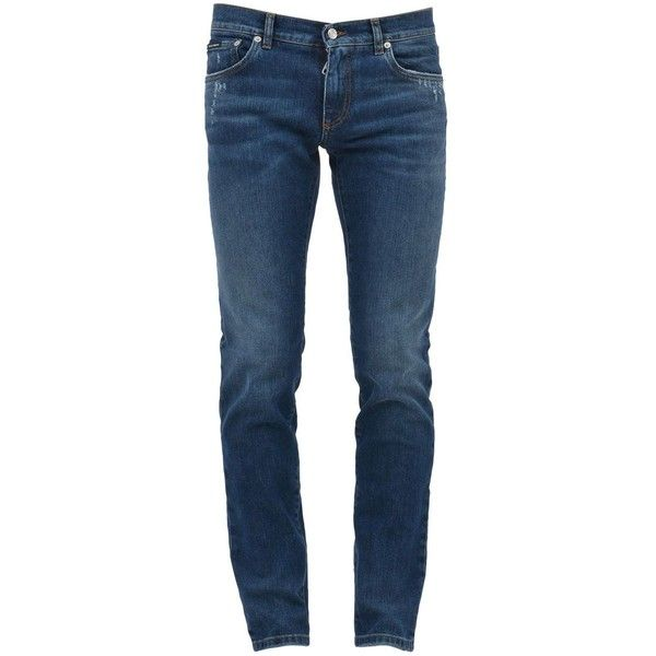 Distressed Blue Jeans (25.310 RUB) ❤ liked on Polyvore featuring men's fashion, men's clothing, men's jeans, light blue, mens distressed jeans, mens light blue jeans, mens blue jeans, mens straight leg jeans and mens mid rise jeans