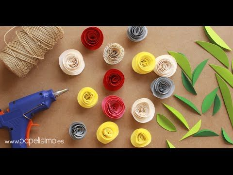 SCRAP-   Flores de papel y cartulina - YouTube