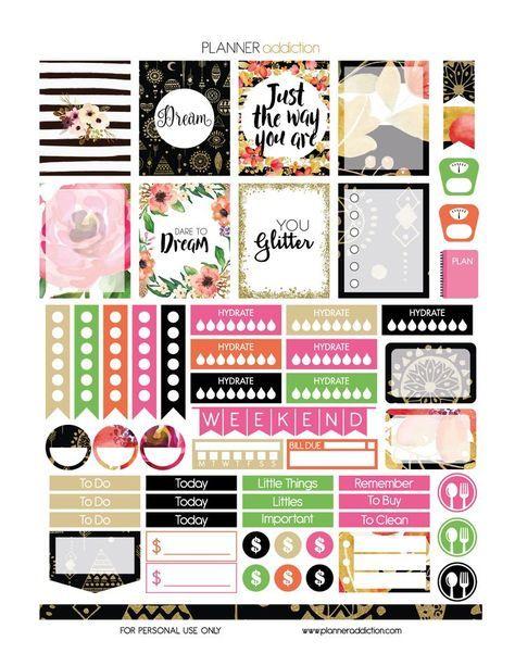 Free 'Dream' Printable Planner Stickers   Planner Addiction **PLANNER**