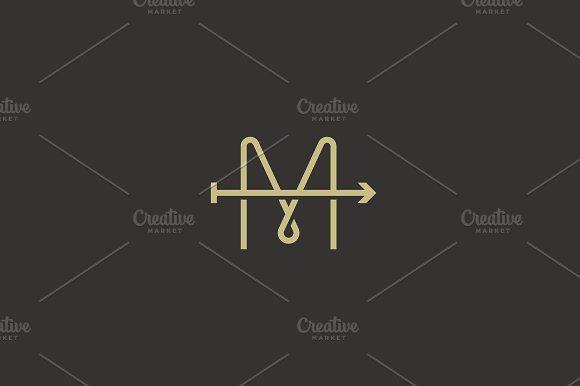 letter M arrow logo design by Bureau on @Graphicsauthor