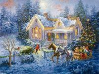 Обои для рабочего стола Новый год, Рождество, добро пожаловать домой, Nicky Boehme