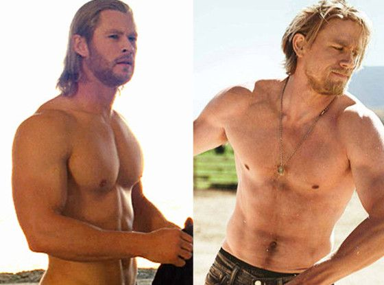 Celeb Men's Best Bod Tournament: Vote in the Finals!  Best Male Body Tournament, Chris Hemsworth, Charlie Hunnam