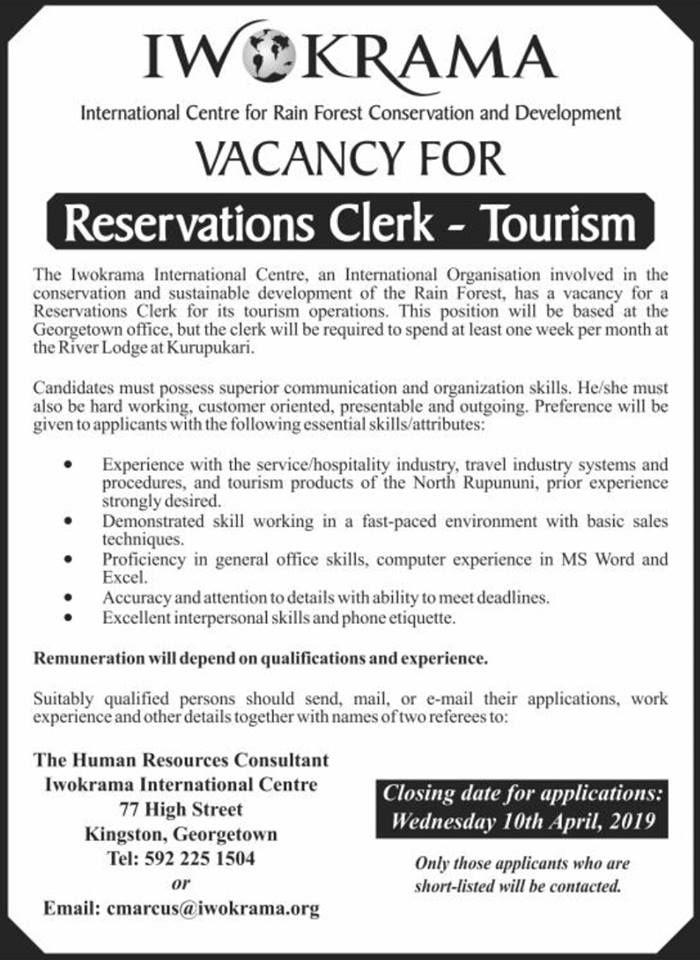 Iwokrama International Centre Job Website Caribbean Jobs Tourism