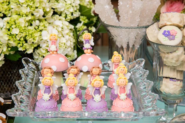 Fairies bonbons in a themed children's event.