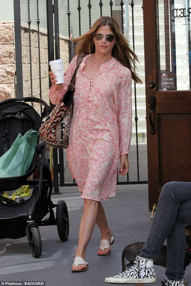 08e358b084ec Selma Blair goes for spring chic as she grabs coffee in Studio City