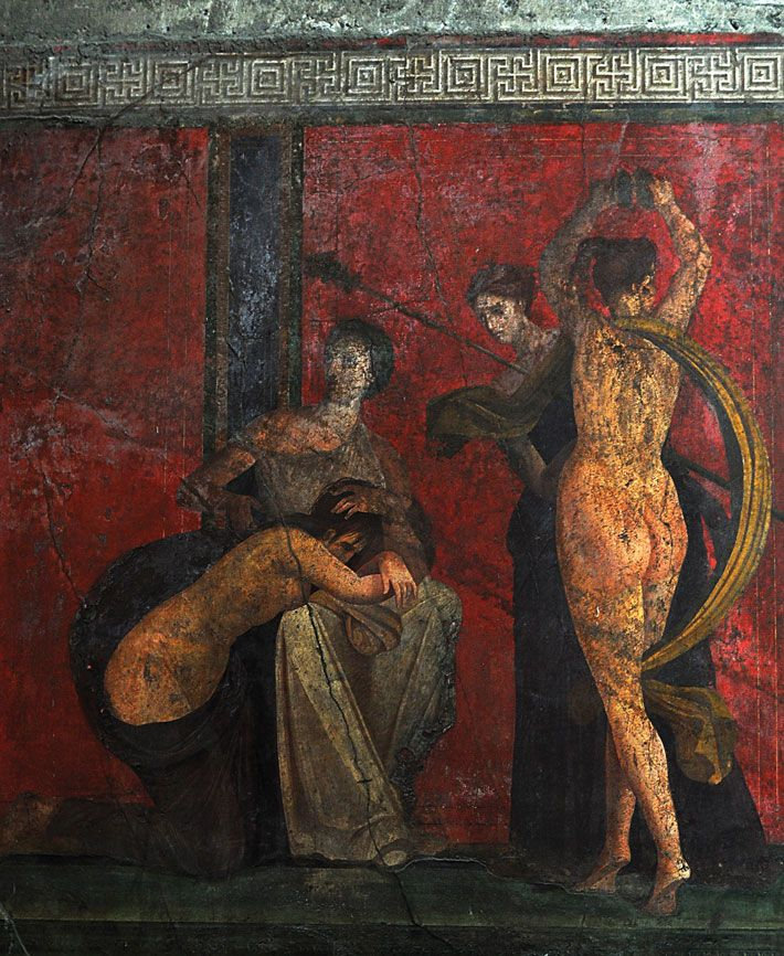 1159 best pompeii august 24th 79 a d images on pinterest for Ancient mural villa