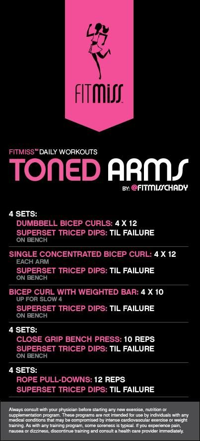 Toned Arms workout by Fitmiss