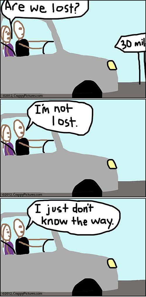 Husband & wife...driving.