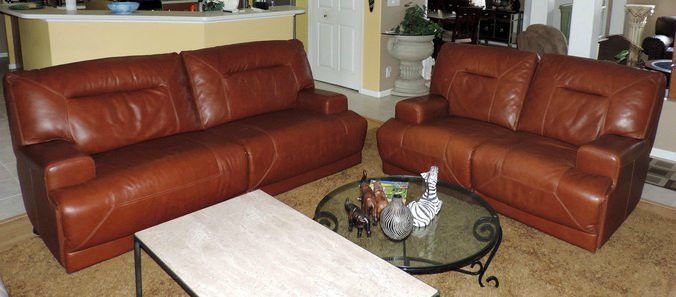 Macys Cognac Leather Sofa WSCRIPTCOM - Ricardo leather reclining sofa